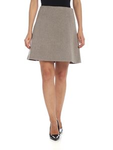 Theory - Wool and cashmere skirt in beige melange