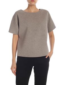Theory - Wool and cashmere sweater in beige melange