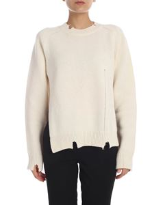 Maison Margiela - Wool pullover in ivory color