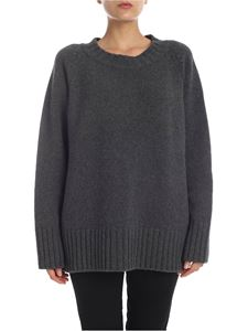 Maison Margiela - Wool and cashmere pullover in dark gray