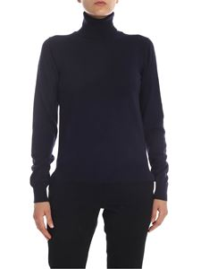 Maison Margiela - Wool turtleneck in dark blue