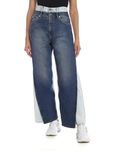 Maison Margiela - Jeans in light blue and blue delavè