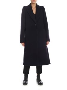 Maison Margiela - Virgin wool coat in dark blue
