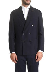 Lardini - Blue double-breasted jacket