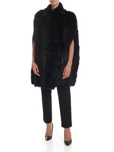 Red Valentino - Reversible black fur