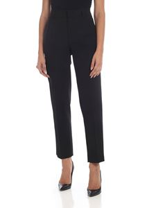 Red Valentino - Cropped trousers in black viscose and virgin wool