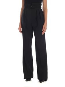 Red Valentino - High-waisted black trousers with belt