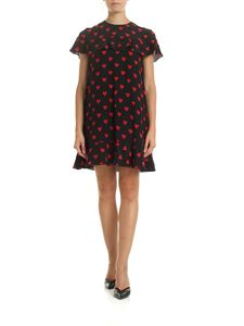 Red Valentino - Black dress with hearts print