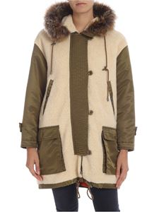 Moschino - Green parka with faux fur details