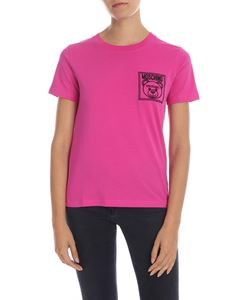 Moschino - Teddy Label T-shirt in fuchsia