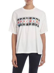 Moschino - Cream-colored T-shirt with Moschino print