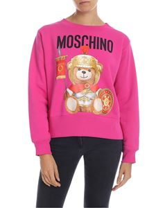 Moschino - Roman Teddy Bear sweatshirt in fuchsia