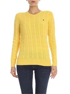 POLO Ralph Lauren - Cable knitted pullover in yellow