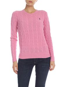 POLO Ralph Lauren - Cable knitted pullover in pink