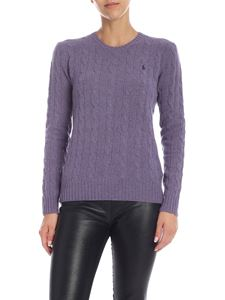 POLO Ralph Lauren - Cable knitted pullover in lavender color