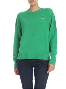POLO Ralph Lauren - Pullover in emerald green color with logo embroidery