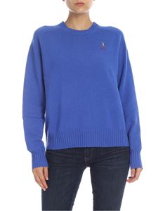 POLO Ralph Lauren - Bluette pullover with logo embroidery