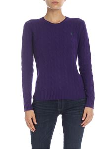 POLO Ralph Lauren - Cable knitted pullover in purple