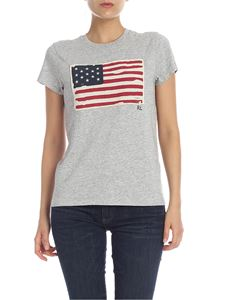 POLO Ralph Lauren - T-shirt in grey melange with Flag patch