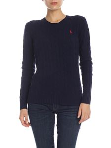 POLO Ralph Lauren - Cable knitted pullover in dark blue