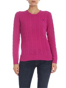 POLO Ralph Lauren - Cable knitted pullover in Cyclamen color