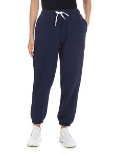 POLO Ralph Lauren - Blue sweat pants with red logo