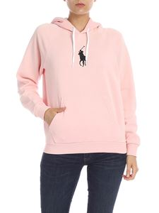 POLO Ralph Lauren - Pink hoodie with logo embroidery