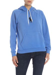 POLO Ralph Lauren - Bluette hoodie with logo embroidery
