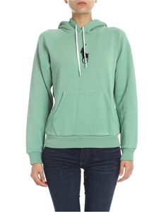POLO Ralph Lauren - Hoodie in aqua-green color with logo embroidery