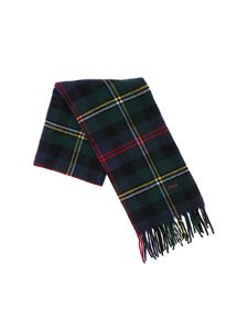 POLO Ralph Lauren - Green and blue scarf with tartan pattern