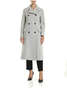 Harris Wharf London - Coat in grey virgin wool cloth