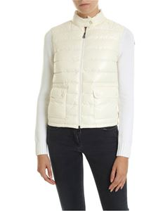 Moncler - Cream-colored cardigan with padded insert