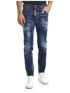 Dsquared2 - Skater jeans in blue with spots of color