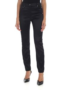 Moschino - Slim fit trousers in black satin