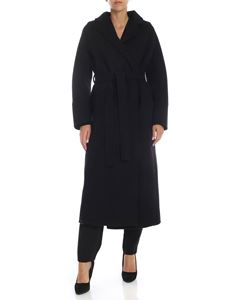 Parosh - Oversized wool coat in black