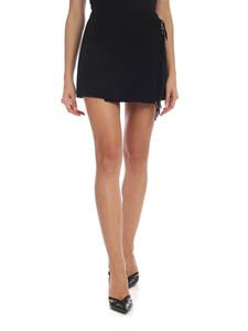 Parosh - Black wool miniskirt with fringes