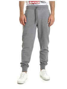 Moncler - Moncler printed sweatpants in grey