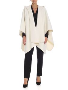 Parosh - Cream-colored hooded wool cape