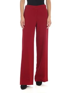 Parosh - Wide leg pants in red cady