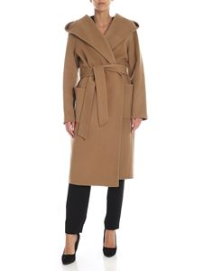 Parosh - Camel colored wool coat with belt
