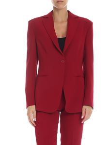 Parosh - Single-breasted jacket in red cady