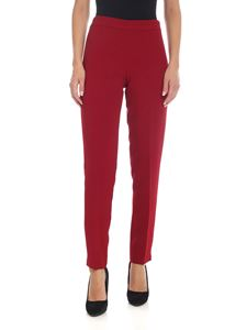 Parosh - Red cady trousers with vents