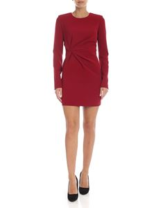Parosh - Red cady dress with ruffles