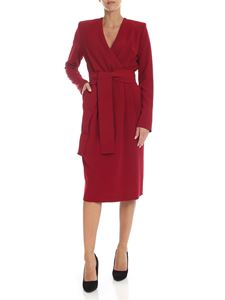 Parosh - Red cady dress with ribbon