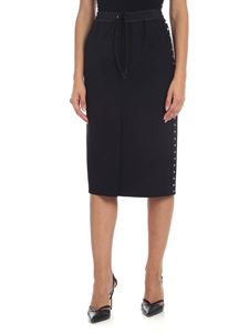 Parosh - Black sheath skirt with studs