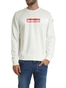 Moncler - Cream-colored sweatshirt with logo print