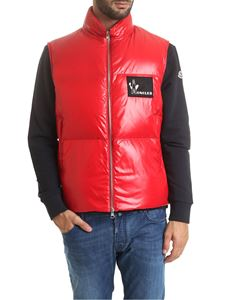 Moncler - Banker sleeveless down jacket in red