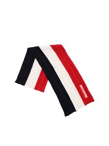Moncler - Tricolor scarf with logo patch
