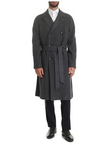 Caruso - Double-breasted coat in grey