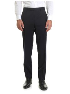 Z Zegna - Blue trousers with sartorial pleat